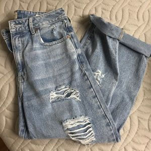 PAC sun distressed mom jeans